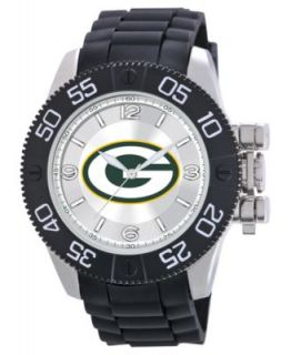 Game Time Watch, Mens Green Bay Packers Black Polyurethane Strap 47mm