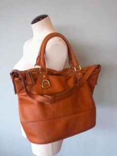 JCrew $298 Marlow Leather Hobo Bag Tote Henna