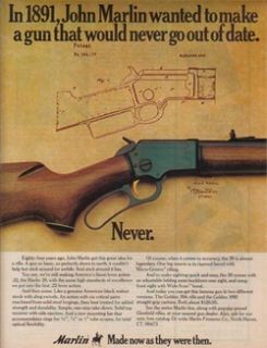 1975 Marlin Ad Model 39 22 Lever Action Rifle