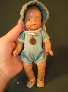 Madame Alexander 7 Dionne Quintuplet Marie Doll Pin Clothes Tagged