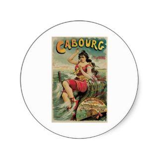 Cabourg Paris France Vintage Travel Poster Art Stickers