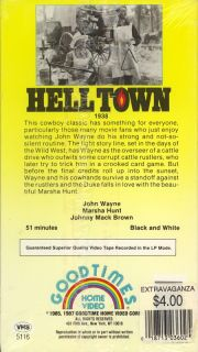 Hell Town John Wayne Marsha Hunt $3 New