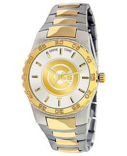 Game Time Watch, Mens Chicago Cubs Two Tone Stainless Steel Bracelet