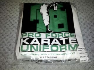 New ProForce Martial Arts Uniform Karate Costume Size 2 White