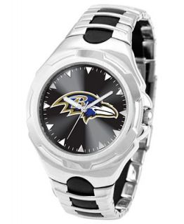 Game Time Watch, Mens Baltimore Ravens Black Rubber and Stainless