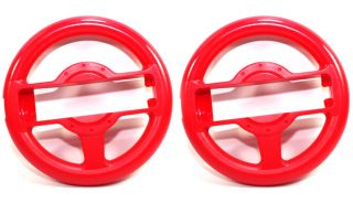New 2X Wii Wheel for Mario Kart Red
