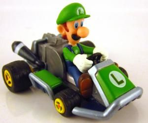 Mario Kart 7 Racing Collection Pull Back Racer 2 Luigi