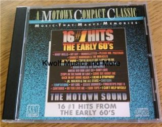 16 #1 Hits   The Early 60s, Various Artists (CD, 1987, Motown)