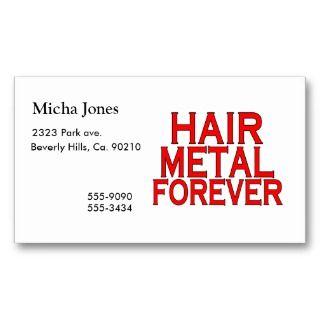 Hair Metal Forever Business Card Template