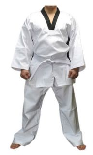Taekwondo Suit White Martial Arts Uniform Free Belt B