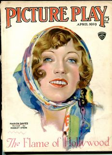 April 1929 modest Stein Marion Davies Cover Blackface Comedy