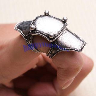 Vintage Armor Shield Joint Finger Rings Retro N 6 5