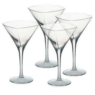 Mikasa Panache Crystal Martini Glasses Set of 4