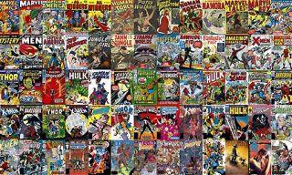 Marvel Comic Book Covers Xmen Spiderman Hulk Wall Mural
