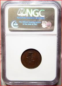 1863 Schulzes Restaurant New York Buck Deer Civil War Store Token NGC