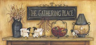 The Gathering Place Mary Ann June 16x34 inch Framed or Unframed