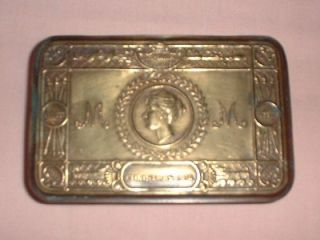 Genuine WW I 1914 Christmas Princess Mary Brass Tin