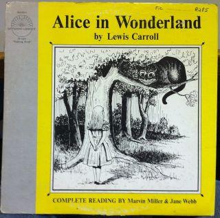 LEWIS CARROLL alice in wonderland LP VG+ J 1633 Talking Book 16 Rpm