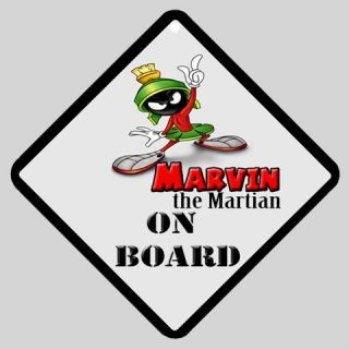 New Hot Marvin The Martian on Board Car Window Sign