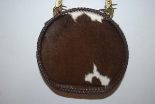 Mary Alice Palmer Round Western Leather Brown Purse Shoulder Bag Cow