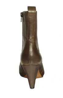 Indigo by Clarks Womens Boots Mary Margaret Olive Leather 33081 Sz 7 M