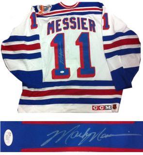 Mark Messier Signed Pro Official 1994 S.C. New York Rangers Jersey JSA