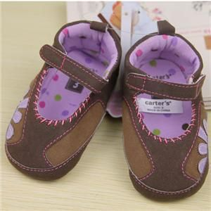 Cute Brown Mary Jane Toddler Baby Girl Infant Shoes