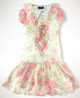 , Girls Ruffle Front Floral Chiffon Dress   Kids Girls 7 16