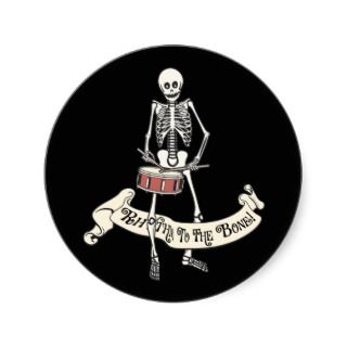 Snare Drum Skeleton Sticker