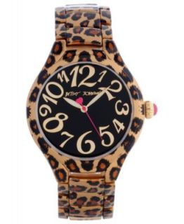 Betsey Johnson Watch, Womens Leopard Print Leather Strap BJ00068 05