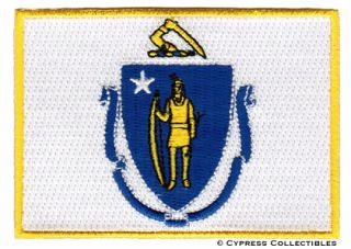 Massachusetts State Flag Embroidered Iron on Patch New