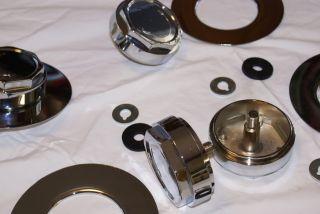 Maserati Khamsin Ghibli Wheel Spinners and Cover Plates