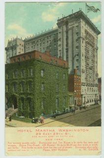 102309 Hotel Martha Washington E 29th St New York City NY 1911