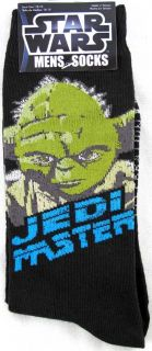 Star Wars Yoda Jedi Master Mens Crew Socks Size 10 13