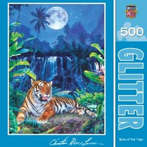 Masterpieces Christian Riese Lassen Eyes of The Tiger Jigsaw Puzzle