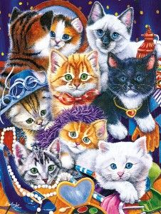 Masterpieces Dress Up Kittens Jigsaw Puzzle 300 Big Pieces Easy Grip