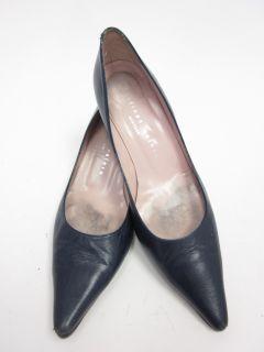 Martinez Valero Navy Leather Pumps Shoes Sz 6 5