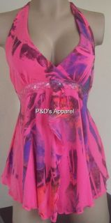 New Womens Maternity Clothes Pink Halter Top Shirt Blouse s M L XL