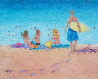 Beach Painting Original Oil Painting by Matson