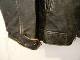 Mens Sz Large Marc Mattis Leather Motorcycle Jacket Excellent