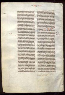 Hand Written Manuscript Bible Leaf RARE Gospel of Matthew 14 16