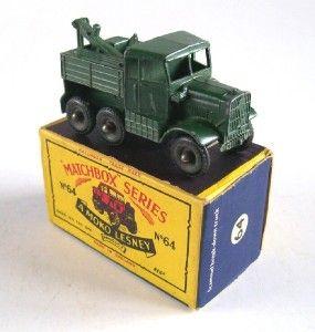 Matchbox Lesney 64 Army Scammell Breakdown Truck 1961