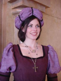 Italian Lady Court Renaissance Medieval Dress Costume