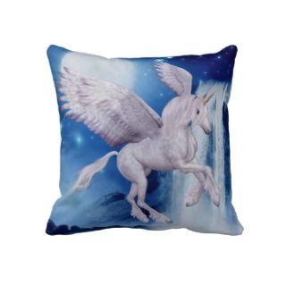 Flying Unicorn Fantasy American MoJo Pillow