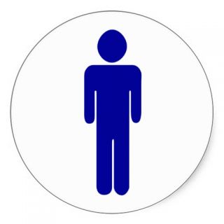 Mens Restroom or Bathroom Sign Sticker