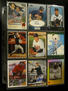 Lot of 82 Minnesota Twins Signed Cards Auto Autograph Woodson Pat