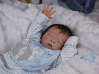 Babies Reborn Baby Boy Doll Maurice Evelina Wosnjuk Tummy Plate