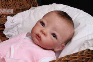 Cute Reborn Baby Girl Azlin by Moravianbabies Sculpt by Nikki Britt No