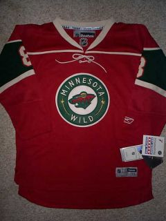 100 Minnesota Wild Brent Burns NHL Hockey Reebok Jersey Youth Kids
