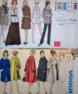 23 All Vintage Vogue Sewing Patterns 1950s 60s 70s Dresses Coats